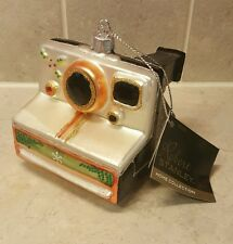 "Polaroid Camera Christmas Ornament Glass Robert Stanley 3"" Vintage Photographer"