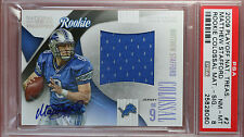 2009 PLAYOFF NATIONAL TREASURES Matthew Stafford auto. rookie card PSA 8 #18/50