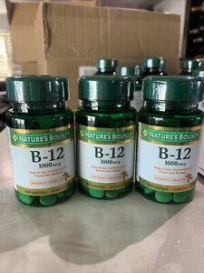 Nature's Bounty Vitamin B-12 1000 mcg Tablets - 100 Count (Pack of 3 )