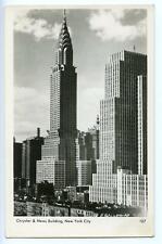 RPPC CHRYSLER & NEWS BUILDINGS NEW YORK CITY*VINTAGE REAL PHOTO POSTCARD