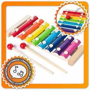 Holz Xylophon für Kinder - Xylofon Musikinstrument Glockenspiel Klangspiel