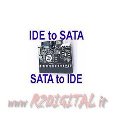 SCHEDA CONVERTITORE da IDE a SATA & da S-ATA a PATA per HARD DISK HD 3,5 2,5