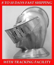 European Closed Helmet Medieval Knight Helm Larp Fancy Armour Costume Dress Dcx1