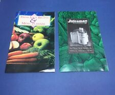 Juiceman Jr. (JM-211) Juicer MANUAL and Juice Recipes Book!! EUC