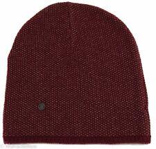 NWT GUCCI 352350 Men's Small Beanie Ski Hat, Burgundy/Beige