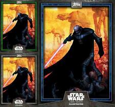 Topps Star Wars Card Trader Illustrated 19 W3 Deadly Darth Vader Blue/Green/Gray