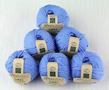 Fibra Natura Links 100% Organic Cotton Cecile Blue Yarn -- 6 Skeins + Free Gift!