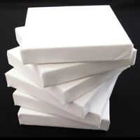 "Set of 6 Artists Blank Canvas 15cm x 15cm Flat 17mm Canvas Gesso Primed 6""x6"""