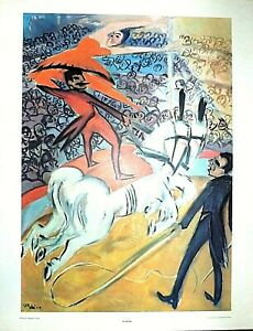 """PECHSTEIN """"CIRCUS"""" LITHOGRAPH PRINT 28 X 22 INCHES PLATE SIGNED"""