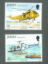 Jersey Helicopters 2 values mnh - Jersey 2005-Search and rescue