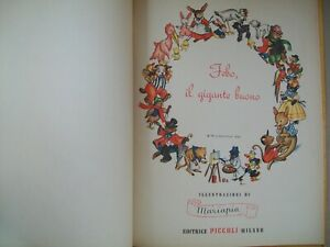 Fiaba vintage Jolanda Colombini Febo, il gigante buono editrice Piccoli Mariapia
