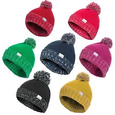 Trespass Nefti Kids Pom Pom Beanie Boys Girls Warm Winter Hat For School