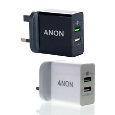 GENUINE ANON FAST CHARGER PLUG UK FOR SAMSUNG GALAXY S8 S8+ PLUS Note 8 A5 & A7