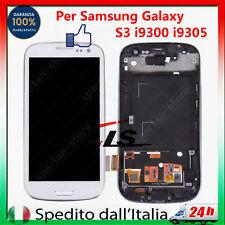 LCD PER SAMSUNG GALAXY S3 GT-i9300 DISPLAY SCHERMO TOUCH TASTO HOME +TELAIO