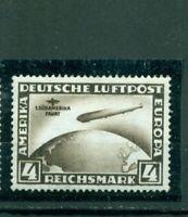 Deutsches Reich ,Zeppelin über Weltkugel Südamerikafahrt Nr.439 Falz *
