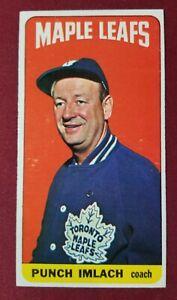 "1964-65 Topps Tall Boy #45 GEORGE ""PUNCH"" IMLACH Toronto Maple Leafs"