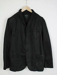 PEPE JEANS Men's X LARGE Wax Look Casual Black Blazer 36021_GS