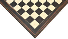Wooden Deluxe Black Died Poplar & White Erable with Matte Finish Chess Board 22""