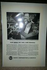 RCA Television 1948 President Voting Elections Truman Democrat Convention