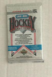 1991-92 unopened Pack of Upper Deck Hockey Cards.  12 card pack
