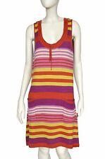GUDRUN SJODEN Dress Tunic Striped Multicolor Silk Blend Size L
