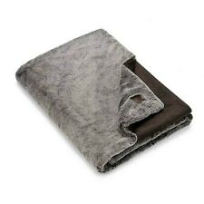 """Ugg Faux Fur Throw Blanket in Chocolate 50""""x70"""""""
