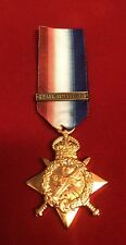 1914-15 STAR MEDAL WW1 MONS STAR DATE BAR 5 AUGUST -22NOVEMBER 1914 SUPERB COPY