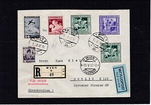 Reco Flugpost mit TOP Frankatur ECHT gelaufen Wien - Berlin 1937