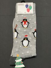 Christmas Holiday Funky Socks Penguins Men's Dress Casual Novelty Crew Socks