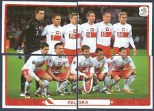 PANINI EURO 2012- #051/052/053/054-POLSKA-POLAND TEAM PHOTO