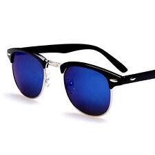 Clubmaster Sunglasses Mens Driving Glasses Aviator Retro Eyewear Men Vintage blu