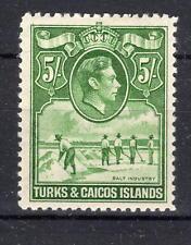 Turks & Caicos 5/- lmmint 1938-45 SG204 Cat £60[T2003]