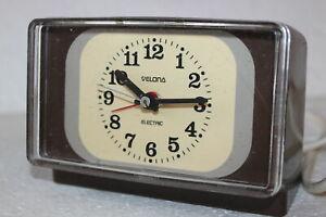 Velona Electric Wecker/Uhr SPACE AGE DESIGN  Vintage