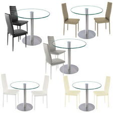 Dining Chairs Faux Leather PU Padded Seat Mid Back Dining Room Kitchen 2/4/6pcs