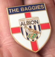 WEST BROMWICH ALBION BAGGIES ST GEORGE SHIELD  ENAMEL PIN