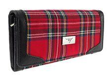 Ladies Red Royal Stewart Scottish Tartan Long Wallet Purse Brand New TB8000