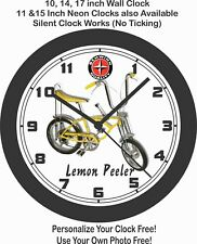 SCHWINN LEMON PEELER STINGRAY BICYCLE WALL CLOCK-FREE USA SHIP!