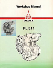 Deutz F1L 511 F2L 511 Service Workshop Repair Manual Engine Motor Repair PDF CD