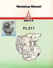 Deutz F1L 511 F2L 511 Service Workshop Repair Manual Engine Motor Repair PDF CD
