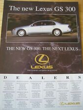 LEXUS GS 300 DEALERS LIST 1993 POSTER ADVERT READY TO FRAME A4 SIZE FILE M