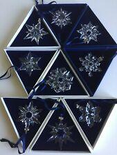 Swarovski Snowflake Ornaments Set 1996 1997 1998 1999 2000 2001 2002 2003 2004