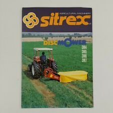 Sitrex Disc Mower Sales Brochure Farm Equipment Agriculture Hay Machinery