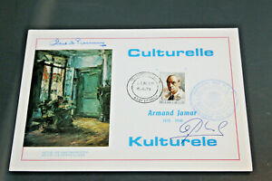 BELGIUM 1974 - CULTURAL CELEBRITIES - JAMAR COVER - SIGNED IN INK TWICE