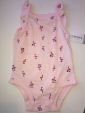 Baby Girl Outfit 9m Carters 9 M One Piece Bodysuit 9 Months Pink Flamingos New