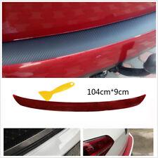 3D Carbon Fiber Black Car Bumper Rear Trunk Lip Sticker Anti-kick Scratch Decal