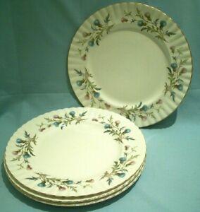 Royal Albert Brigadoon 4x Dinner Plates 26cm/10.25in Used Good