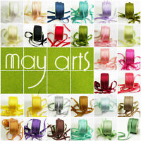 "May Arts 100% Silk 7mm (1/4"") Ribbon - 31 Colours - 1 & 2m Cut Lengths - Offer"