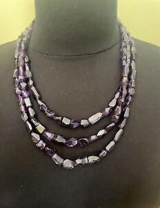 Jay King 3-Strand Amethyst Bead Necklace