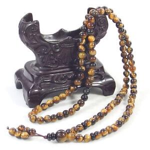 6mm 108 Natural Gemstone Beads Buddhist Prayer Mala energy Bracelet Necklace