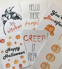 6 x HALLOWEEN Notelets - Send HALLOWEEN post! - Blank Postcards-6pk *FREE UK P&P